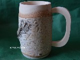Mug from a birch tree with bark 0,5 l