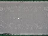 Haft kujawski - bieżnik ręcznie haftowany, biały 75x40 cm