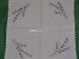 Tablemat, hand made, theme bouquet of lavender 50x50 cm