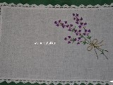 Tablemat, hand made,theme bouquet of lavender 33x21cm