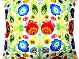 Poduszka dekoracyjna folk - kwiaty łowickie (269) 40x40 cm