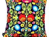 Poduszka dekoracyjna folk - kwiaty łowickie (270) - 20x20 cm