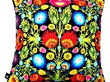 Poduszka dekoracyjna folk - kwiaty łowickie (270) - 40x40 cm