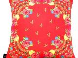 Poduszka dekoracyjna folk - kwiaty (271) - 40x40 cm