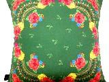 Poduszka dekoracyjna folk - kwiaty (273) - 40x40 cm