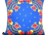 Poduszka dekoracyjna folk - kwiaty (274) - 20x20 cm