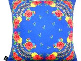 Poduszka dekoracyjna folk - kwiaty (274) - 40x40 cm