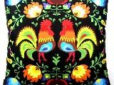 Poduszka dekoracyjna folk - Koguty (285) - 40x40 cm