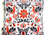 Poduszka dekoracyjna folk - Ptaki i kwiaty (287) - 20x20 cm