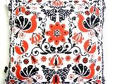 Poduszka dekoracyjna folk - Ptaki i kwiaty (287) - 50x50 cm