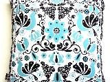 Poduszka dekoracyjna folk - Ptaki i kwiaty (288) - 20x20 cm