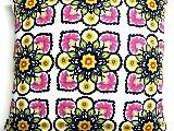Poduszka dekoracyjna folk - Kwiaty (290) - 50x50 cm