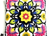 Poduszka dekoracyjna folk - Kwiaty (291) - 40x40 cm