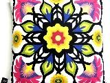 Poduszka dekoracyjna folk - Kwiaty (291) - 50x50 cm