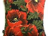 Poduszka dekoracyjna folk, Maki - (293) - 50x50 cm