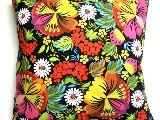 Poduszka dekoracyjna folk,Kwiaty - (294) - 40x40 cm