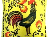 Poduszka dekoracyjna folk, Łowicki kogut - (298) - 40x40 cm