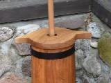 Kierzanka (maselnica)  duża, dębowa - naczynie klepkowe ręcznie robione, 10 l