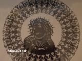 Wycinanka ludowa, Gwiazda kurpiowska z Jezusem, śred. 34 cm (wb)