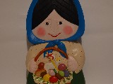 Folk sculpture. The rural woman
