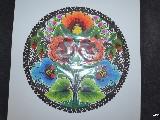 Wycinanka łowicka - Ażur - kwiaty łowickie śred. 27 cm (ww-34)