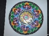 Wycinanka łowicka - Ażur - kwiaty łowickie śred. 27 cm (ww-33)