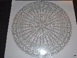 Wycinanka ludowa. Gwiazda kurpiowska, kolor srebrny, śred. 34 cm (wb)