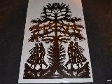 Wycinanka ludowa, kurpiowska - Leluja drzewko szczęścia, wys. 35 cm (wb-13)