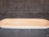 Naczynie drewniane - miska, płaska 40x13 cm (23)