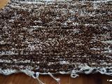 Chodnik bawełniany ręcznie tkany brązowo-ecru 50x100 cm