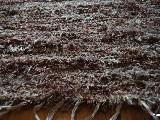 Chodnik bawełniany ręcznie tkany jasny, ciemny brąz (melanż) 65x100 cm