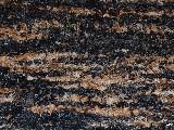 Hand -woven cotton carpet, black-grey-brown-ecru 65x150 cm