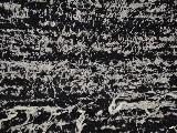 Hand -woven cotton carpet, black-ecru 65x120 cm