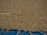 Hand -woven cotton carpet ecru 65x100