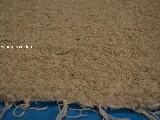Hand -woven cotton carpet, ecru 80x120