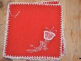 Haft kujawski - serwetki ręcznie haftowane komplet 6 sztuk (kz-8)