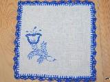 Haft kujawski - serwetka ręcznie haftowana, 20x20 cm (kz-7)