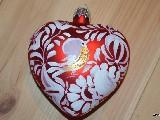 Bombka w kształcie serca ręcznie malowana, wys. 8 cm (3)