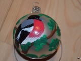 Bombka ręcznie malowana, ptak, śred. 5 cm (5)