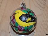 Bombka ręcznie malowana, ptak, śred. 5 cm (6)