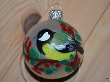 Bombka ręcznie malowana, ptak, śred. 5 cm (7)