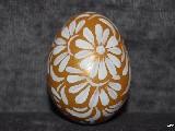 Gold Easter egg - chicken egg, Kuyavian pattern, hand-painted