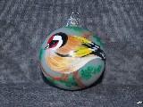 Bombka ręcznie malowana, ptak, śred. 5 cm (8)