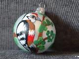 Bombka ręcznie malowana, ptak, śred. 5 cm (10)