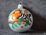Bombka ręcznie malowana, ptak, śred. 5 cm (11)