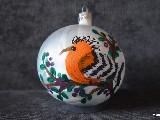 Bombka ręcznie malowana, ptak, śred. 10 cm (12)