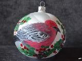 Bombka ręcznie malowana, ptak, śred. 10 cm (13)