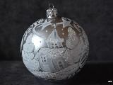 Bombka ręcznie malowana, śred. 10 cm (17)