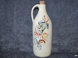 Ceramika bolimowska biała - butelka na nalewkę, ręcznie toczona i malowana ok. 1 l (2