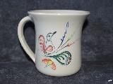 Garncarstwo - Ceramika bolimowska - kubek 0,5 l, ręcznie toczony i malowany  (1)